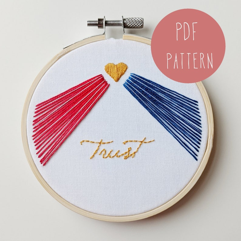 Divine Mercy Trust Embroidery Pattern. Catholic image 0