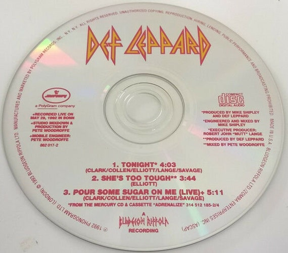 Def Leppard - Tonight 1993 CD Single - NEW