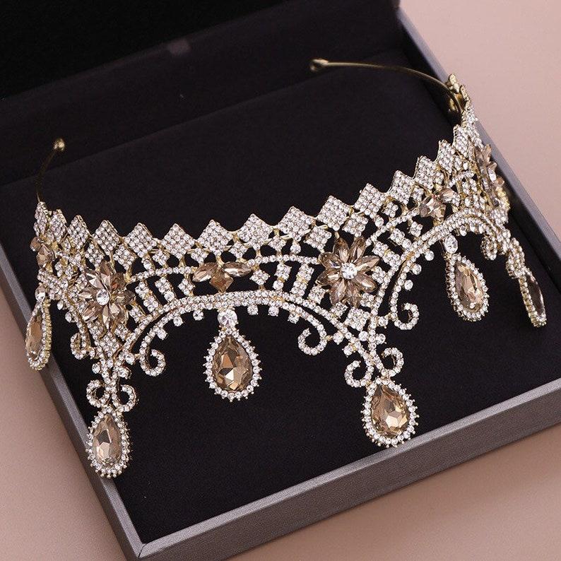 New elegant fashion crown bride Princess wedding tiara simple atmosphere queen crown wedding tiara