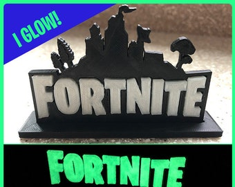 Logo Stand Birthday Cake Topper Desk Or Bedroom Decoration For Fortnite Gamers Glows In The Dark Our Best Seller
