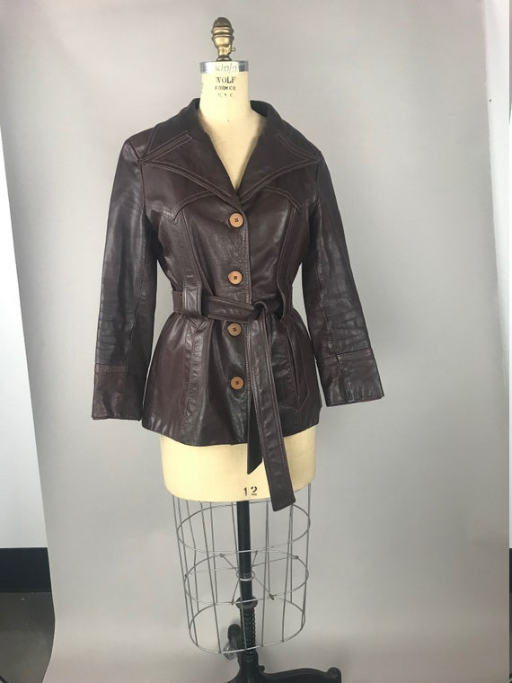 Women's 70's Oxblood Brown Leather Jacket