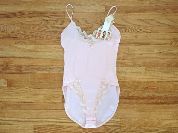 Blush Pink 80/'s Deadstock Cotton Blend Bodysuit