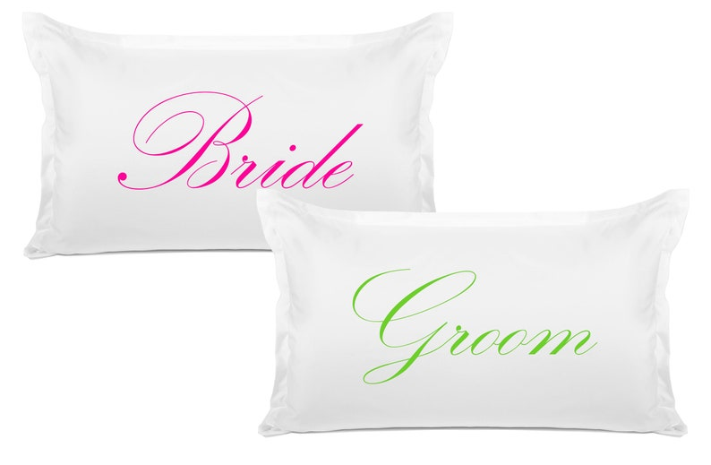Wedding Gift and Engagement Gift Bride and Groom Couples Pillows Pillowcase 20x30 Di Lewis Studios Home Decor Bedroom Decor