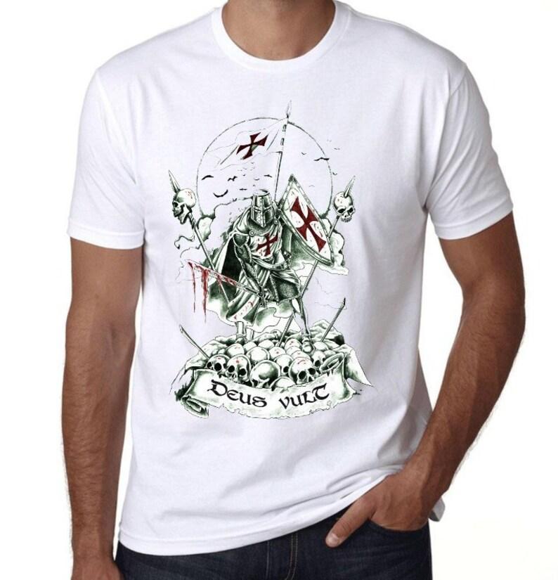 7c5241a91 T-shirt Knights Templar-Print in sublimation-unique T-shirt   Etsy