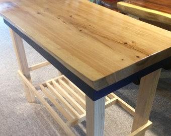 White Cypress Slab Makes A Wonderful Tabletop.