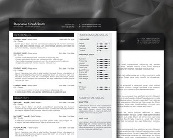 Clean minimal luxury and classy resume template for all job applications + modern custumizable resume and cover letter