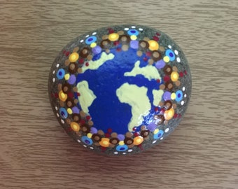 Hand painted Earth Stone