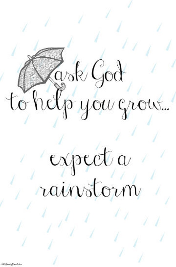 Instant Download Wall Art Ask God To Help You Grow Quotes Etsy