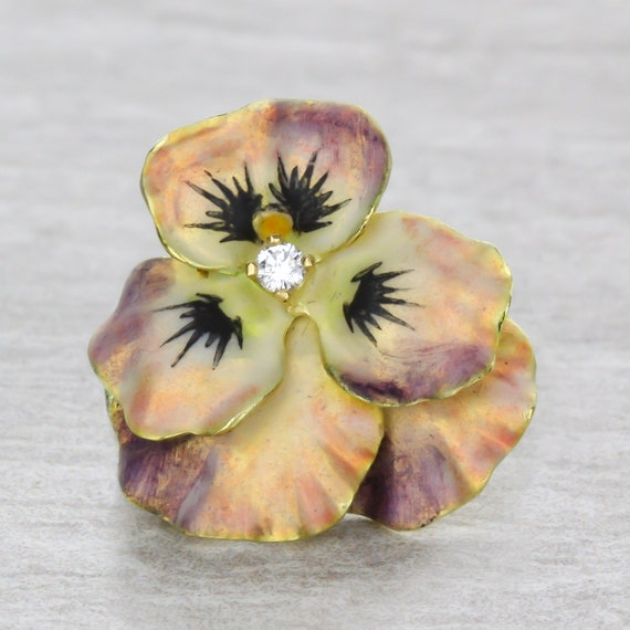 Pansy Flower Pin