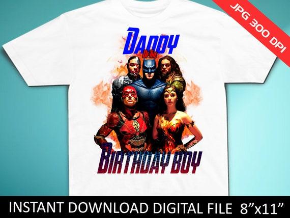 Justice League Birthday Shirt Iron On Transfer