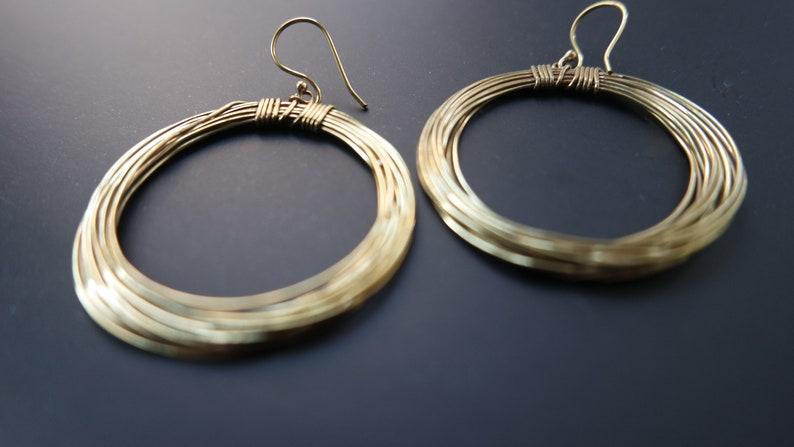 minimalist brass earrings,boho hoop earrings,bohemian jewelry,hippie chic earrings,brass wire earrings hoop bras earrings,ethnic jewelry