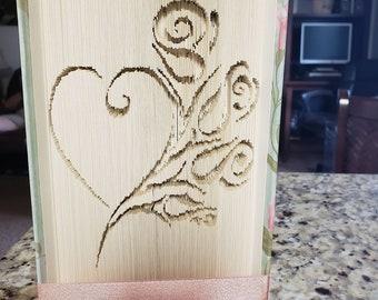 Floral Heart Book Art