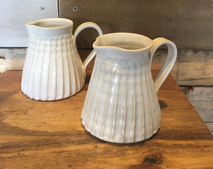Fluted milk jug