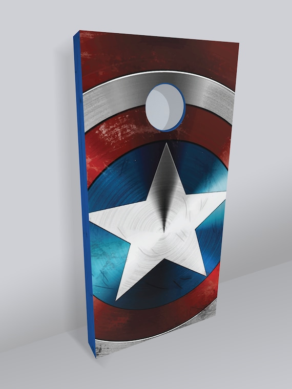 Superb Captain America Cornhole Boards Cornhole Board Bean Bag Toss Corn Toss Superhero Marvel Comics Avengers Parties Gifts Tailgating Pdpeps Interior Chair Design Pdpepsorg