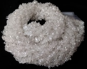 White Crystal Chips Beads, Natural Crystal Gemstone Nuggets Chips Uncut Beads, Crystal Chips 34 quot Full Strand