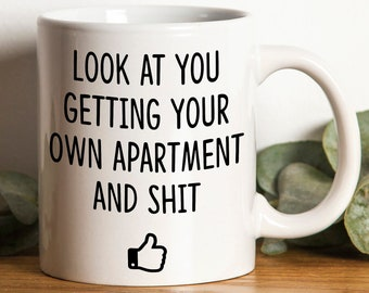 Getting New Apartment Gift Ideas | Apartment Gift | Gift For Apartment Renter | Funny Apartment Mug | New Apartment Gift Ideas |