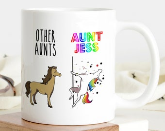 Funny Aunt Unicorn Mug, Funny Gift For Your Aunt, Aunt Gift, Aunts Unicorn Mug, Aunts Gag Gift, Christmas gift, Aunt Funny Mug, Gift for her