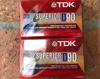 TDK CD Power Type II 110 Min Chrome Blank Audio Cassette Tape New Sealed NIP
