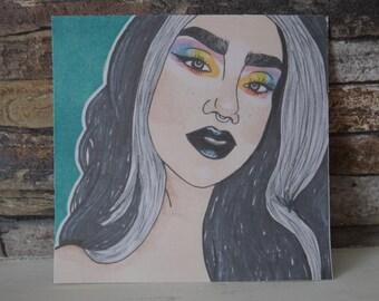 Rainbow Girl Pro Marker Print