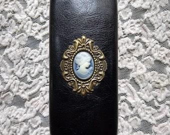 Victorian Lady cameo,Hard Glasses Case, Case for glasses, Eyeglass holder, Box for glasses,Gift for her, Gift for women