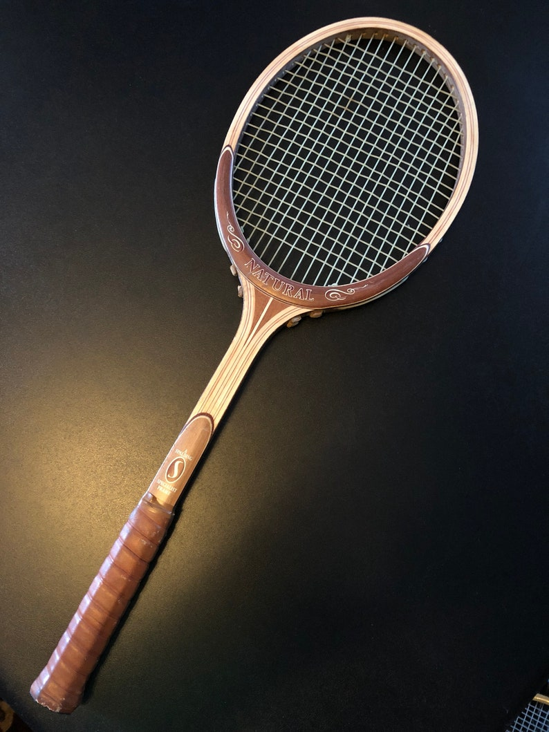 bffdfb8dfc Vintage Wood Tennis Racquet Racket Classic Spalding   Etsy