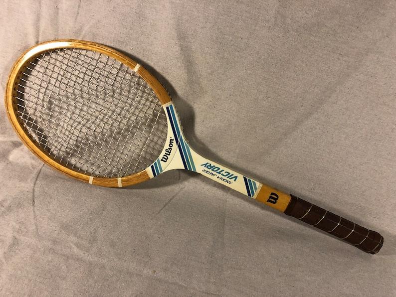 dfdfc00815 Vintage Wood Tennis Racquet Racket Wilson Andrea Jaeger   Etsy