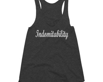 VIM APPAREL:  Indomitability Women's Tri-Blend Racerback Tank