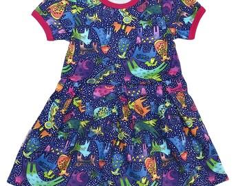 Girls Blue Dress Dreams, Nice Dress for Girl, Birthday gift for Girl, Girls pleasant dress