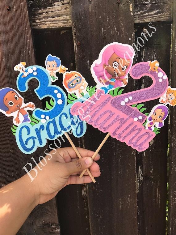 Pleasant Bubble Guppies Cake Topper Birthday Cake Topper Custome Cake Etsy Personalised Birthday Cards Veneteletsinfo