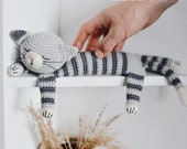 Easy Sleepy Cat Crochet Pattern Tabby Amigurumi Cat Tutorial PDF