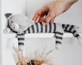 Easy Sleepy Cat Crochet Pattern Tabby Amigurumi Cat Tutorial PDF