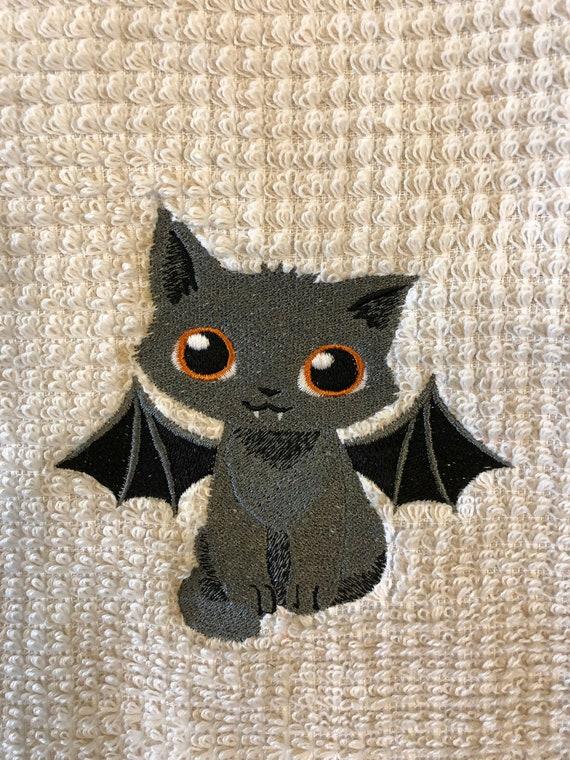 Vampire Cat Bamboo Hand Towel