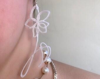 Bts love yourself flower earrings