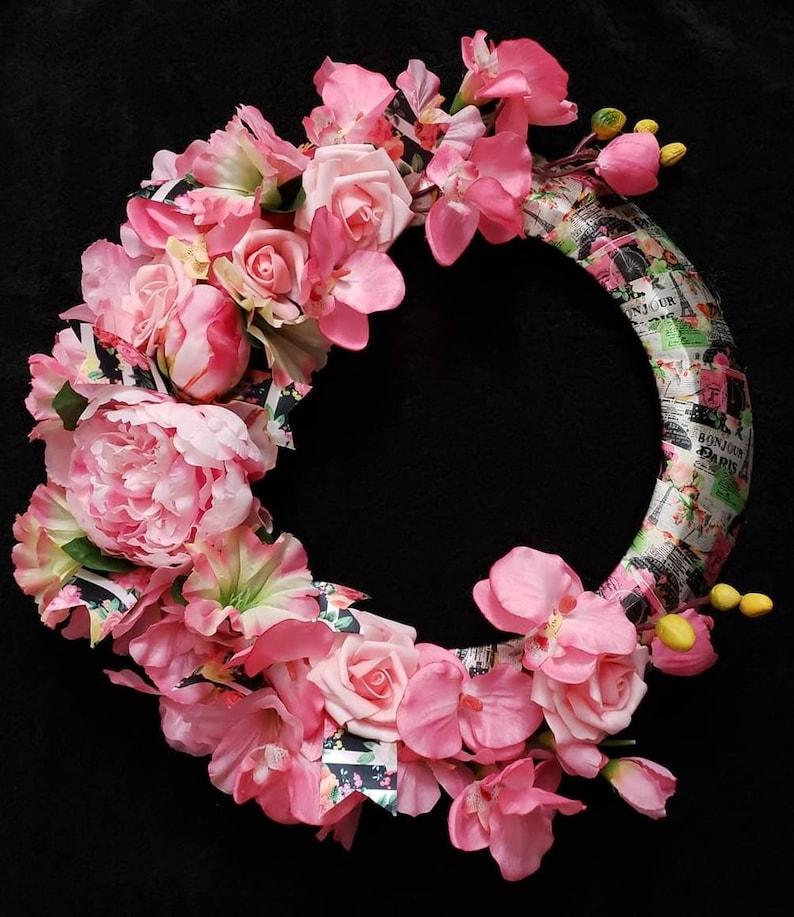 Spring In Paris Wreath