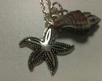 Seashell and Charm Necklace
