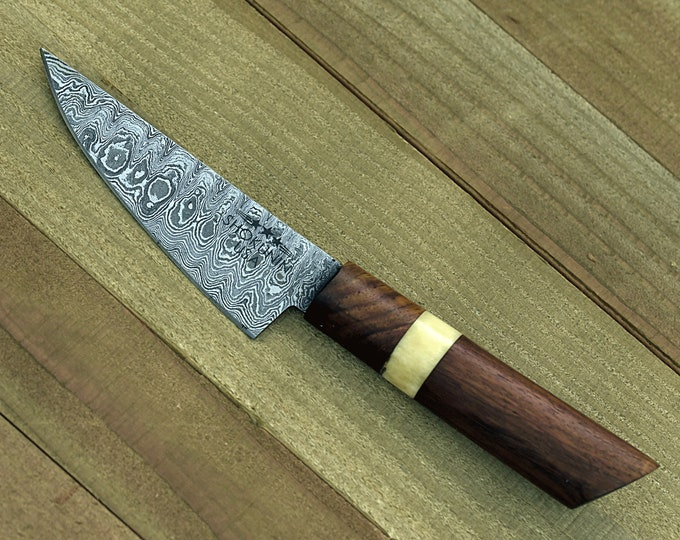 "chef knife DAMASCUS KNIFE Damascus steel knife utility pairing knife 8"" 3490-1 personalised chef"