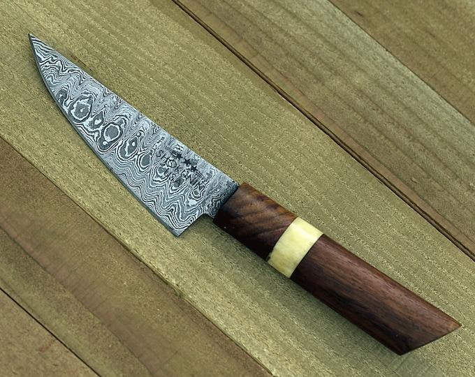 "chef knife DAMASCUS KNIFE Damascus steel knife utility pairing knife 8"" 3490-1 personalised chef"
