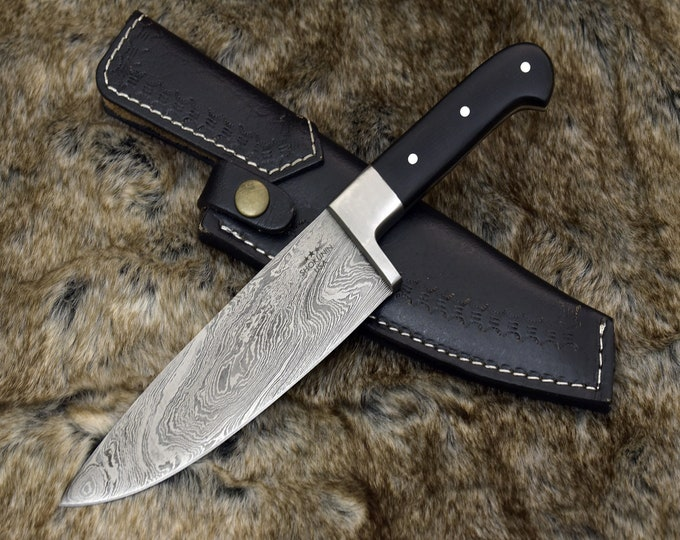 "CUSTOM, 10.5"", PRO CHEF knife, Damascus Steel knife, French Chef knife w/ Composite handle and steel rivets, Chef knife, Professional"