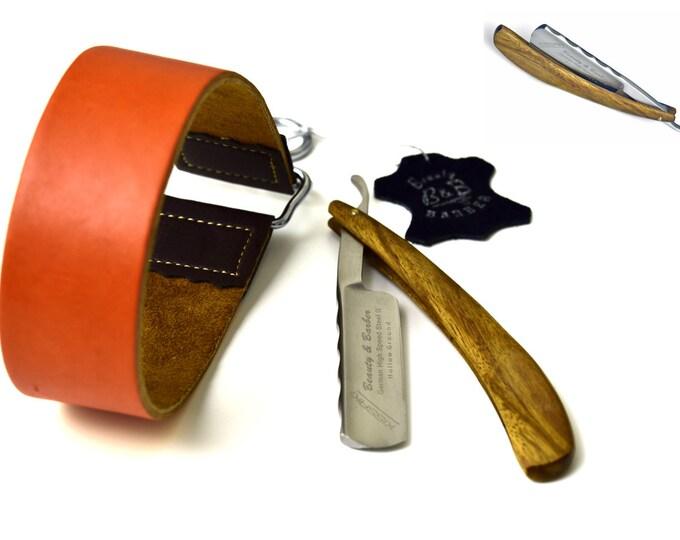 Straight Razor, Razor, Razor Sharpening Leather Strop For Straight Edge Razor Shaving Kit New Shave Gift Set Shave Ready Rasoi Shavette