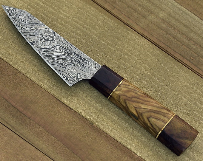 "Personalised, knife, chef's knife, chef knife, DAMASCUS KNIFE,DAMASCUS steel knife utility pairing knife 8"" 3490-1 chef"