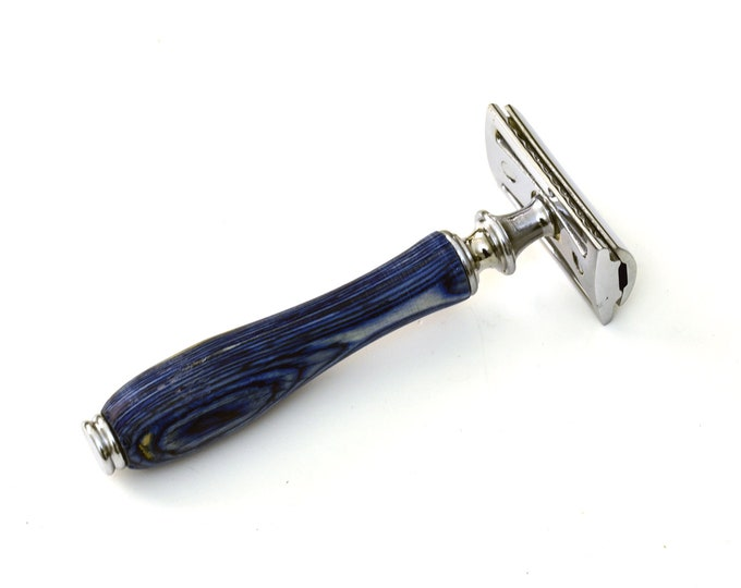 Safety Razor Double Edge, RAZOR MEISTER PRIME, double edge razor, German Stainless Steel Pakkawood handle, closed comb 50 blades