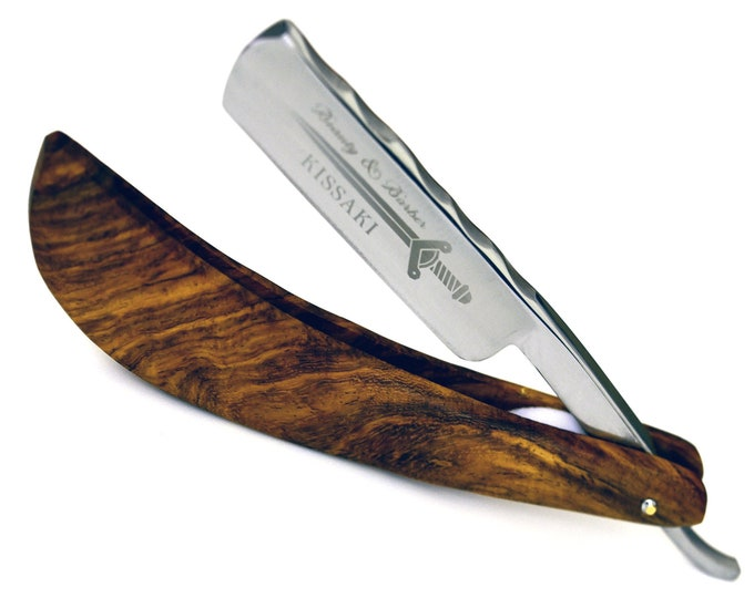 Personalize Straight Razor By B&B / high speed steel / Rosewood wood handle / Shaving Razor / straight edge razor cutthroat