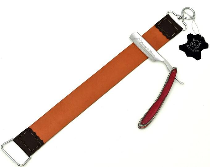 Straight Razor / Double sided strop / Shaving Set Gift #13
