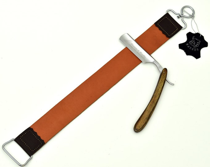 Straight Razor / Double sided strop / Shaving Set Gift #17