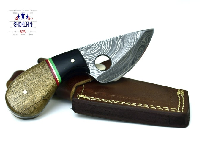 DAMASCUS Knife SKINNER EDC damascus steel hunting knife tactical camping utility knife