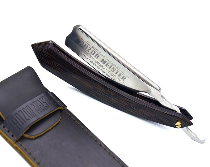 Personalize Straight Razor By B&B / German high speed steel / Wenge wood handle / Shaving Razor / straight edge razor cutthroat Gift