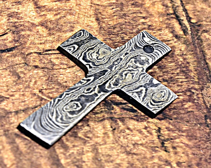 Damascus Pendant, Damascus Cross, Damascus Steel Cross, Damascus Unique Cross, Damascus Necklace, Damascus Chain, Hand Forged Damascus Cross