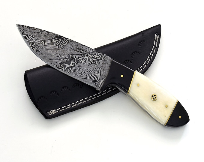 "9.0"", Damascus knife with Composite handle hunting / tactical / survival / custom / personalize Damascus steel knife"