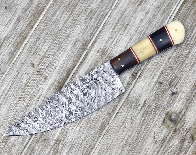Chef knife, Personalized, Professional damascus chef knife, French knife, Hand Made Damascus steel knife custom