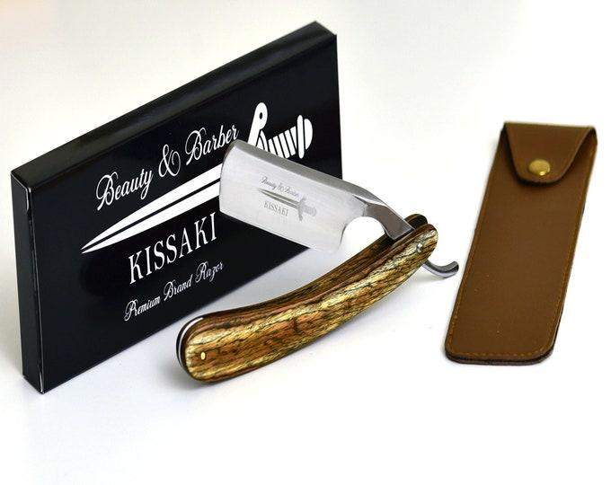 Personalize Straight Razor By B&B / high speed steel / olive wood handle / Shaving Razor / straight edge razor cutthroat